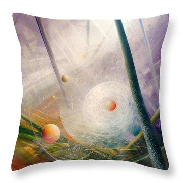 Sphere New Lights Throw Pillow by Drazen Pavlovic