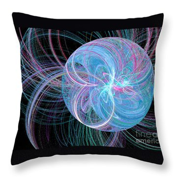 Throw Pillow featuring the digital art Spherical Symphony by Kim Sy Ok