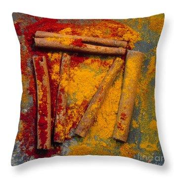 Spices Throw Pillow by Bernard Jaubert