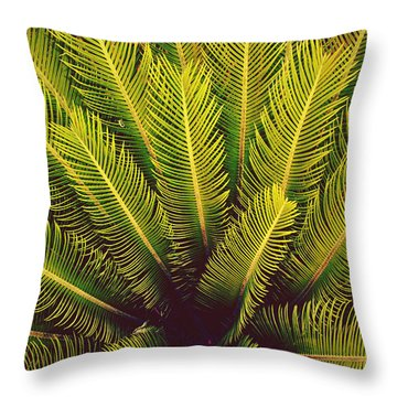 Spiked Leaves Throw Pillow by Sumit Mehndiratta