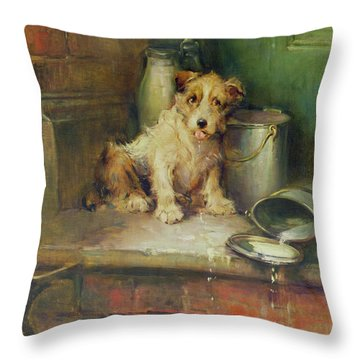 Spilt Milk Throw Pillow by Philip Eustace Stretton