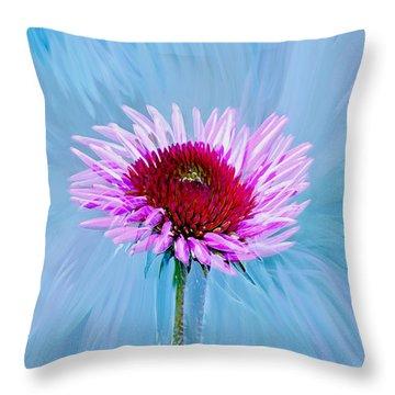 Spin Me Throw Pillow by Linda Sannuti
