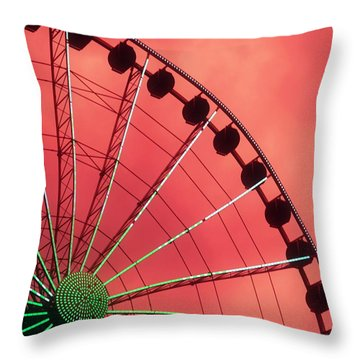 Spinning Wheel  Throw Pillow by Karen Wiles