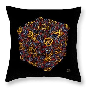 Spiral Box Iv Throw Pillow