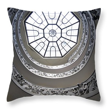 Spiral Staircase In The Vatican Museums Throw Pillow by Bernard Jaubert