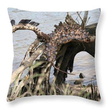 Spirit Horse Throw Pillow by Karen Elzinga