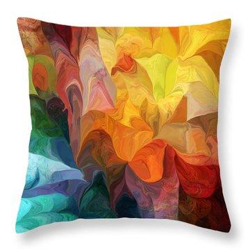 Spirit Journey Throw Pillow by David Lane