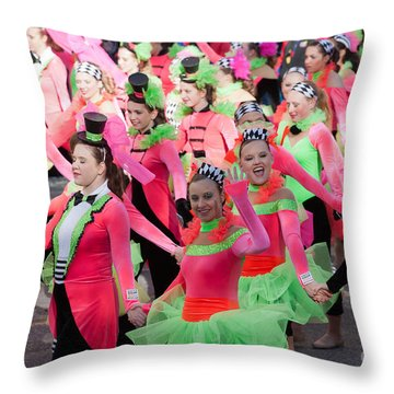 Spirit Of America Dance Team I Throw Pillow by Clarence Holmes