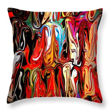 Spirit Of Mardi Gras Throw Pillow by Carol Groenen