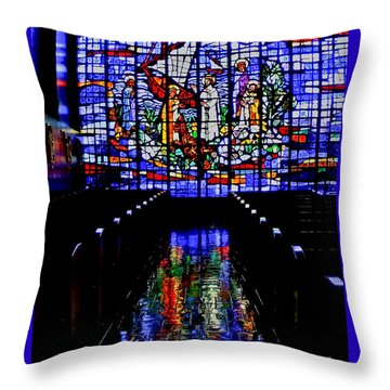 House Of God - Spiritual Awakening Throw Pillow by Carol F Austin