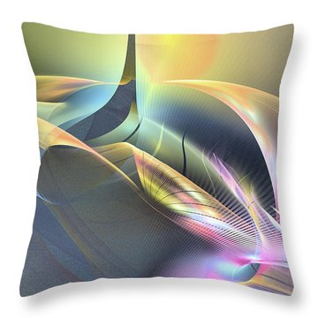 Spiritus Nocturnus - Abstract Art Throw Pillow
