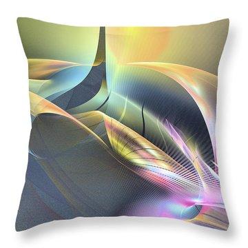 Spiritus Nocturnus - Abstract Art Throw Pillow