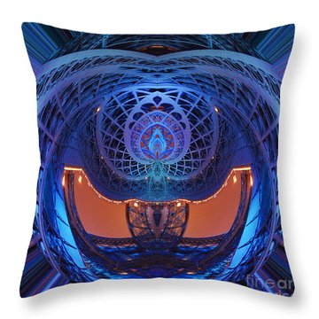 Spirograph Planet Throw Pillow