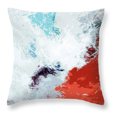 Splash Throw Pillow by Glennis Siverson