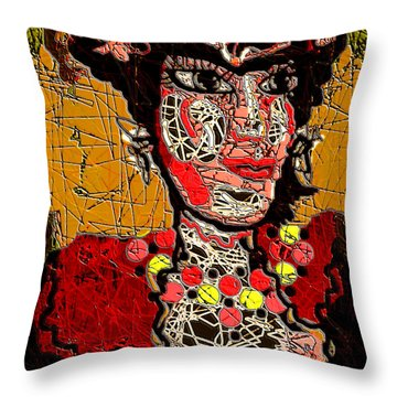 Splashy Lady Throw Pillow by Natalie Holland