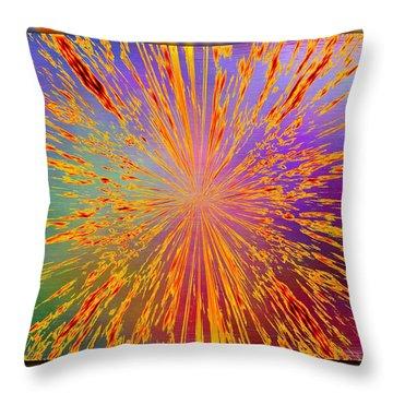 Splattered Throw Pillow by Tim Allen