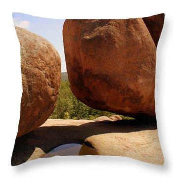 Split Bouuder Throw Pillow by Marty Koch