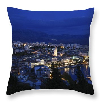 Throw Pillow featuring the photograph Split Croatia by David Gleeson