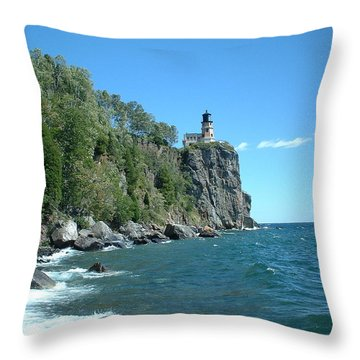 Throw Pillow featuring the photograph Split Rock by Bonfire Photography
