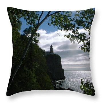 Throw Pillow featuring the photograph Split Rock II by Bonfire Photography