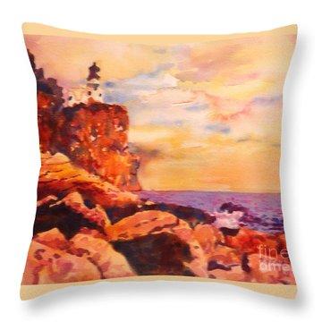 Split Rocks Golden Memories       Throw Pillow by Kathy Braud