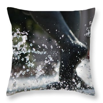 Throw Pillow featuring the photograph Sploosh by Stephanie Nuttall