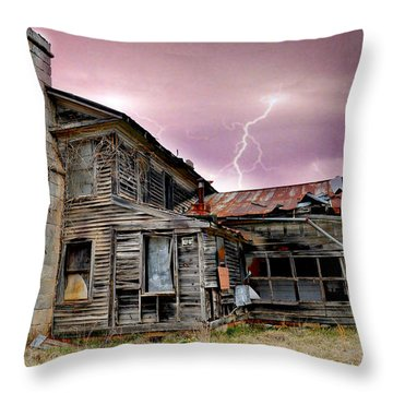 Spooky Throw Pillow by Marty Koch