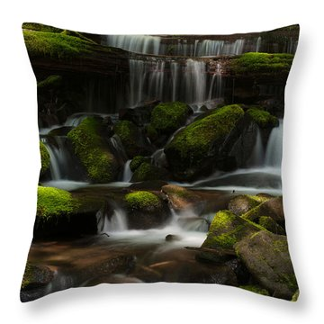 Spotlights Throw Pillow by Mike Reid