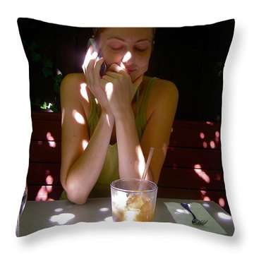 Spotted In Sunlight Throw Pillow