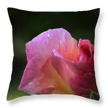 Spreading Petals Throw Pillow