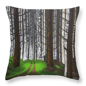 Spring After The Fire Throw Pillow