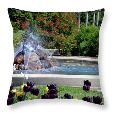 Spring At Maymont Throw Pillow by Kelvin Booker