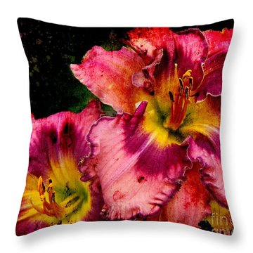 Throw Pillow featuring the photograph Spring Blooms by Davandra Cribbie