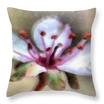 Spring Blossoms 1 Throw Pillow by Angelina Vick