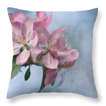 Spring Blossoms For The Cure Throw Pillow