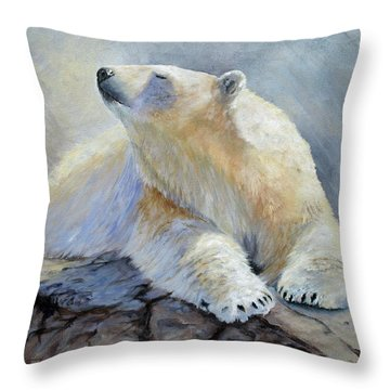 Throw Pillow featuring the painting Spring Break by Mary McCullah