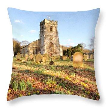 Spring Churchyard Throw Pillow by Sarah Couzens