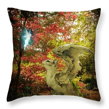 Spring Companions Throw Pillow by Leah Moore