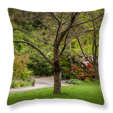 Spring Garden Landscape Throw Pillow by Mike Reid