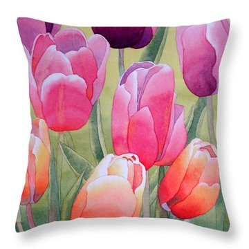 Throw Pillow featuring the painting Spring by Laurel Best