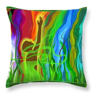Spring Throw Pillow by Mathilde Vhargon