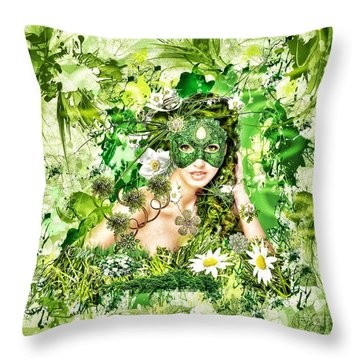 Spring Throw Pillow by Mo T