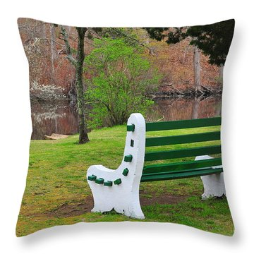 Spring On The Ponaganset River  Throw Pillow by Catherine Reusch Daley