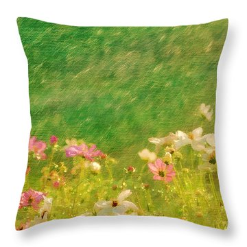 Spring Rain Throw Pillow by Darren Fisher