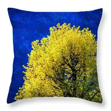 Spring Tree Throw Pillow by Silvia Ganora