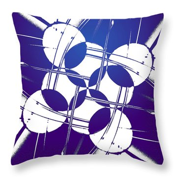 Square Circles Throw Pillow