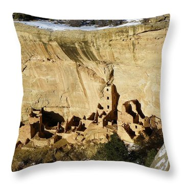 Square Tower In Solstice Season Throw Pillow by Feva  Fotos