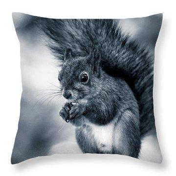 Squirrel In Monochrome Throw Pillow