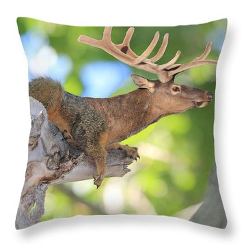 Squirrelk Throw Pillow