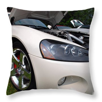 Throw Pillow featuring the pyrography Ssss 2009 Dodge Viper by John Schneider